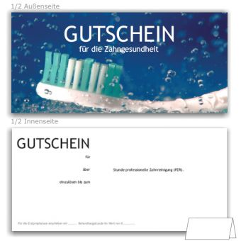 PZR-Gutscheine, Motiv Zahnfrische