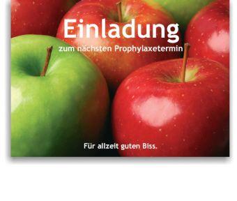 Recallkarten, Motiv Äpfel