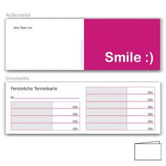 Terminkarte für Kinder, Motiv Smile