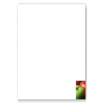 Briefbögen, Motiv Äpfel