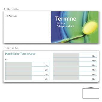 Terminkarten, Motiv Zahngesundheit