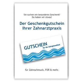 A3-Poster Geschenkgutscheine, Motiv Spiegelgalerie