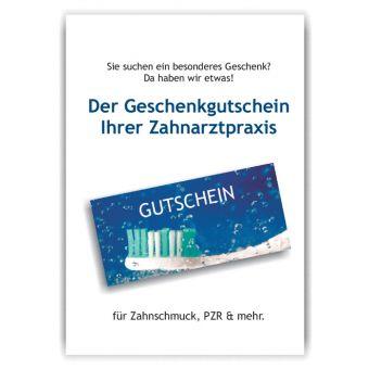 A4-Poster Geschenkgutscheine im Acrylständer, Motiv Zahnfrische