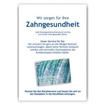 A4-Poster Recallservice im Acrylständer, Motiv Wasser