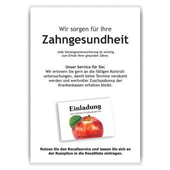 A3-Poster Recallservice, Motiv Herzapfel