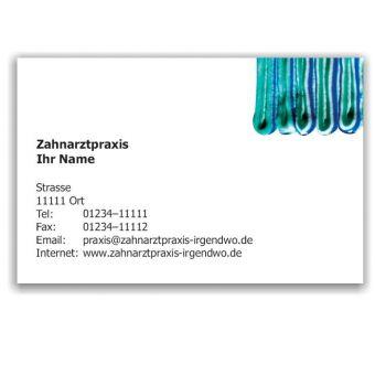 Kalender mit Visitenkarte, Motiv Zahnpasta-Collage