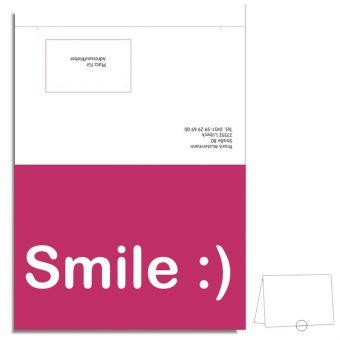 """Individuelle Verschluss-Recallkarten """"Smile"""""""