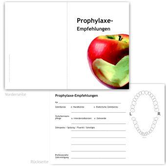 Prophylaxe-Empfehlung, Motiv Herzapfel