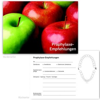 Prophylaxe-Empfehlung, Motiv Äpfel