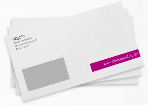 Briefumschläge mit Adressaufdruck, Fenster