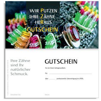 """PZR-Gutschein, Motiv """"Zahnschmuck"""""""