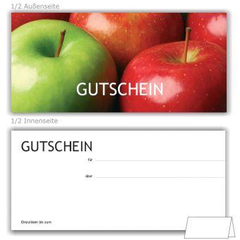 Geschenkgutscheine, Motiv Äpfel