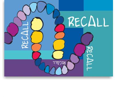 Recallkarten, Motiv Zahnreihen