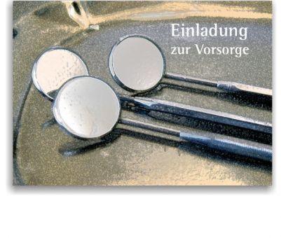 Recallkarten, Motiv Spiegelgalerie, zentrierter Text
