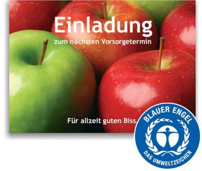 """Recallkarten """"Äpfel"""", Umweltsiegel"""