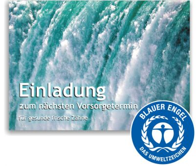 "Recallkarten ""Wasser"", Umweltsiegel"