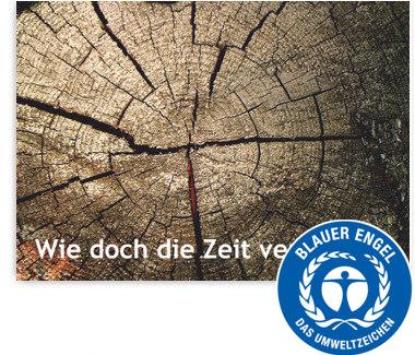 """Recallkarten """"Jahresringe"""", Umweltsiegel"""