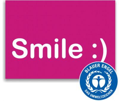 "Recallkarten ""Smile"", Umweltsiegel"