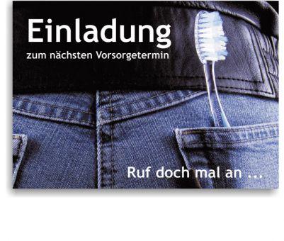 Recallkarten für Jugendliche, Motiv Jeans
