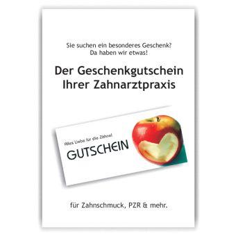 A3-Poster Geschenkgutscheine, Motiv Herzapfel