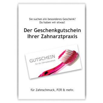 A4-Poster Geschenkgutscheine im Acrylständer, Motiv Zahnbürste