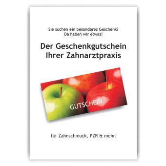 A4-Poster Geschenkgutscheine im Acrylständer, Motiv Äpfel