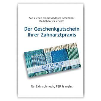 A3-Poster Geschenkgutscheine, Motiv Zahnpasta-Collage