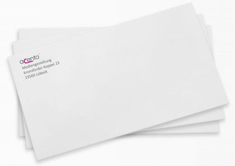 Briefumschläge mit Adressaufdruck, DIN lang