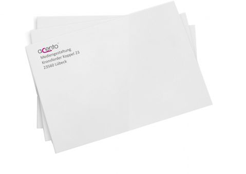 Briefumschläge mit Adressaufdruck, C6