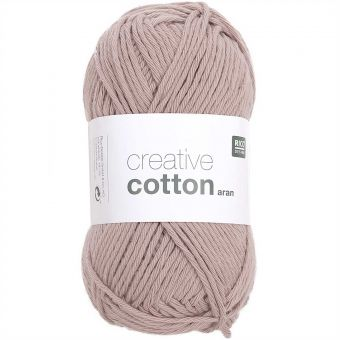 50g Rico Design Creative Cotton aran, 85m, Staub