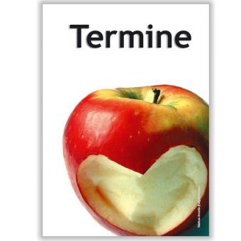 Terminkärtchen, Motiv Herzapfel