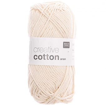 50g Rico Design Creative Cotton aran, 85m, Natur