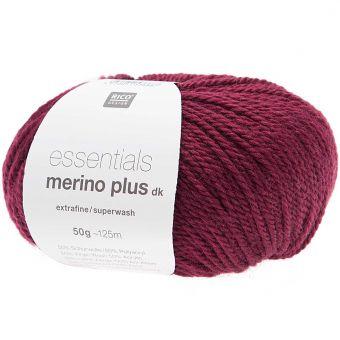 50g Essentials Merino Plus dk von Rico Design, Bordeaux