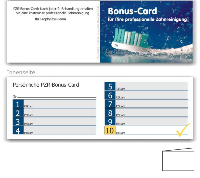 10er PZR-Bonushefte, Motiv Zahnfrische