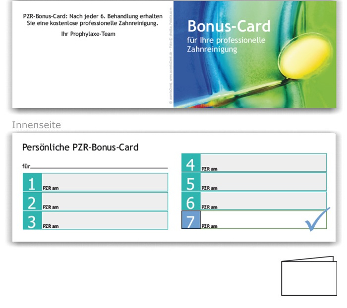 7er PZR-Bonuspass, Motiv Zahngesundheit