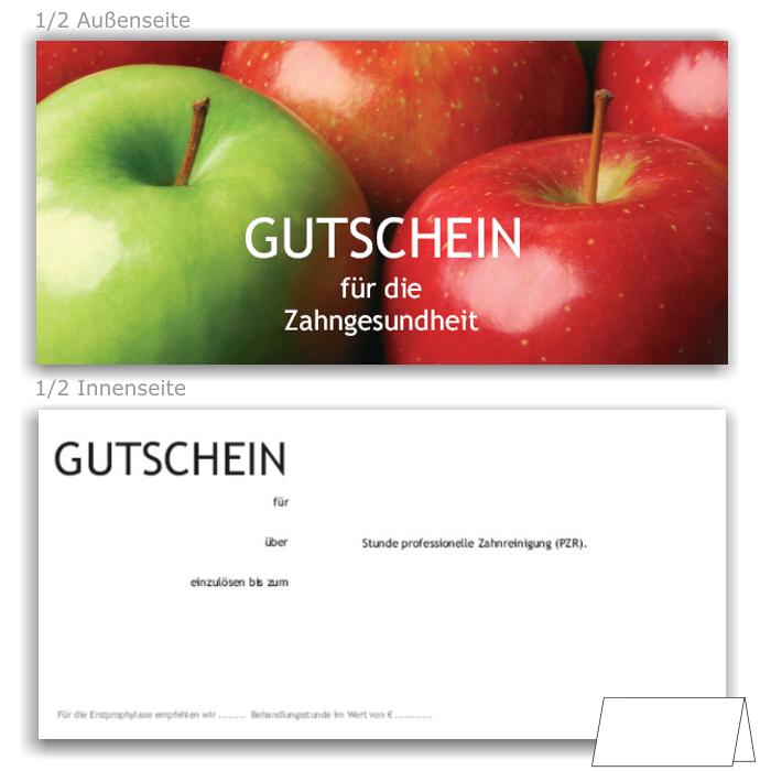 PZR-Gutscheine, Motiv Äpfel