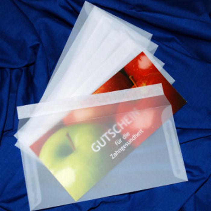 Briefumschläge, transparent, weiß
