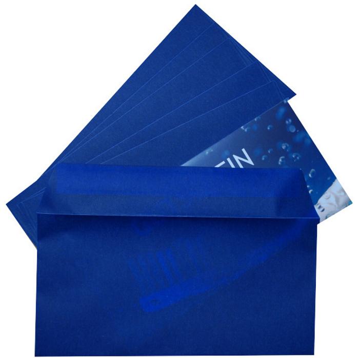 Briefumschläge, transparent, blau
