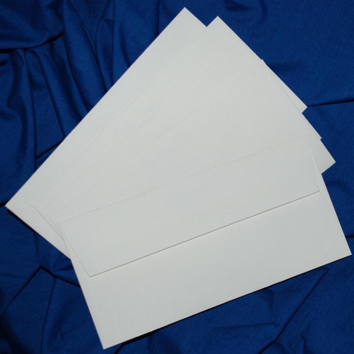 Briefumschläge, genarbt, weiß