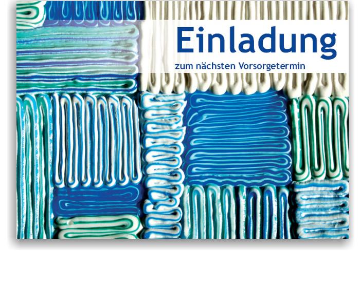Recallkarten, Motiv Zahnpasta-Collage