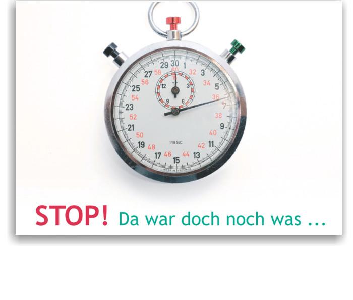 Recallkarten, Motiv Stop!