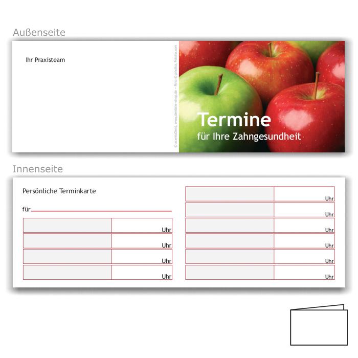 Terminkarten, Motiv Äpfel