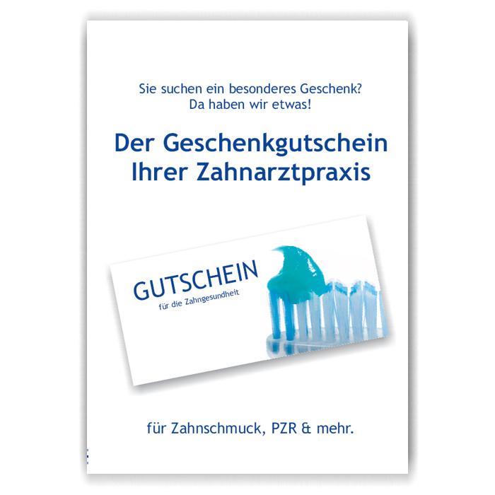 A4-Poster Geschenkgutscheine im Acrylständer, Motiv Putzbereit