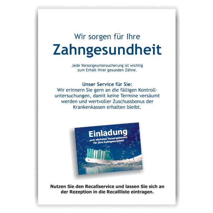 A3-Poster Recallservice, Motiv Zahnfrische