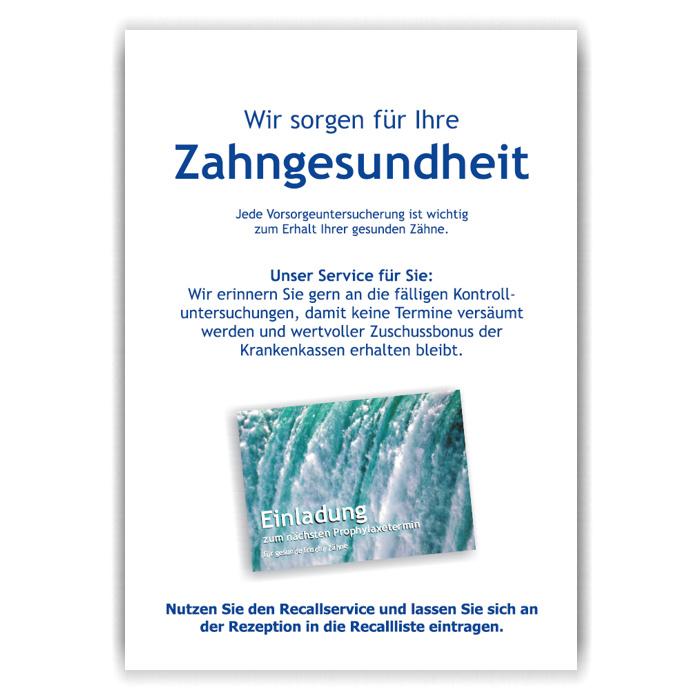 A3-Poster Recallservice, Motiv Wasser