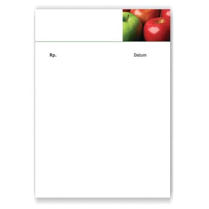 Privatrezepte, Motiv Äpfel
