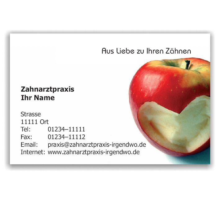 Kalender mit Visitenkarte, Motiv Herzapfel