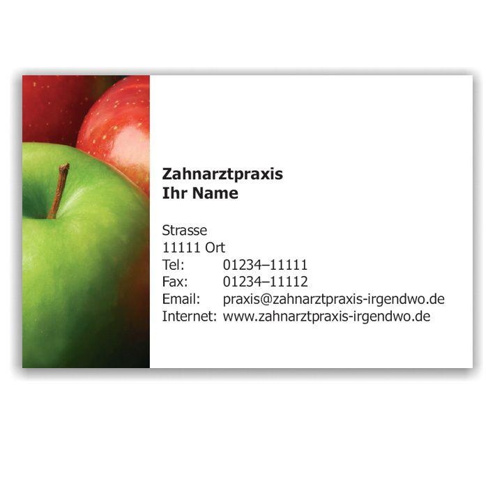 Kalender mit Visitenkarte, Motiv Äpfel