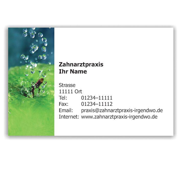 Kalender mit Visitenkarte, Motiv Frische