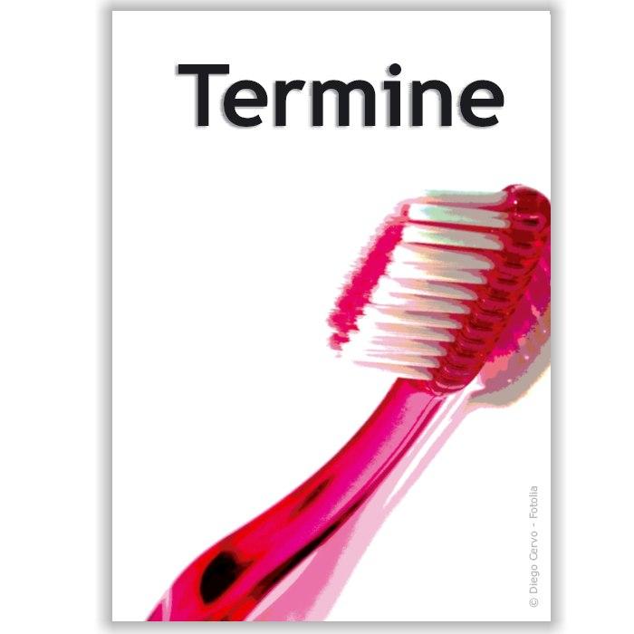 Terminkärtchen, Motiv Zahnbürste